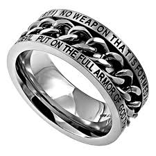amazon com isaiah 54 17 ring and armor of god christian bible