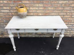 antique gustavian swedish writing desk console table with brass