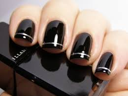 Black Manicure Designs Nail Designs Easy Black Nails Black Nails White Tips Black Tip