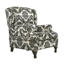 Black Wingback Chair Design Ideas White Black Fabric Wing Back Chair Plus Arm Rest Also Black