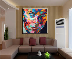 Art For Living Room by Aliexpress Com Buy New Handmade Pop Singer Portrait Painting