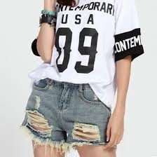 summer style 2017 ripped holes street fashion cotton short jeans
