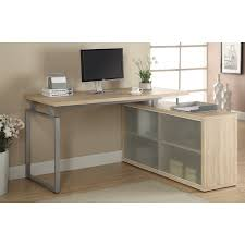 overstock l shaped desk reclaimed l shaped desk with frosted glass free shipping
