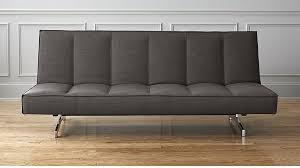 Leather Sleeper Sofas Flex Grey Queen Sleeper Sofa Cb2