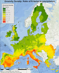 World Map Rainfall by Rainfall Intensity Esdac European Commission