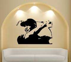 tiger woods american professional golfer wall vinyl decal sticker image 1
