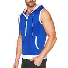 elite sleeveless hoodie royal men u0027s sleeveless hoodies zip up
