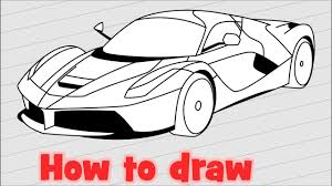 ferrari drawing how to draw a car ferrari laferrari step by step youtube