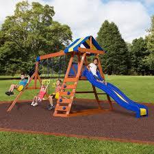Backyard Swing Set Ideas Backyard Discovery Dayton Cedar Wooden Swing Set Walmart