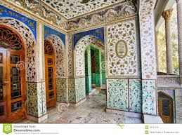 Palace Design Traditional Persian Design Of The Palace Golestan With Painted