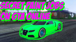 gta 5 online secret car colors glowing green shiny blue toxic