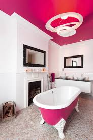 bathroom beautiful design with white fireplace and pink bathroom beautiful design with white fireplace and pink ceiling color ideas designs