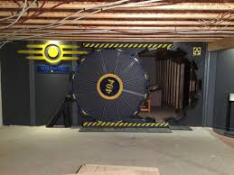 fan builds real life fallout vault door for gaming room nerd reactor