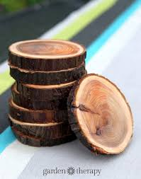 Wood Crafts To Make For Gifts by Natural Branch Coasters
