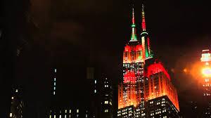 empire state building lights tonight empire state building lights for the 2013 macy s thanksgiving day