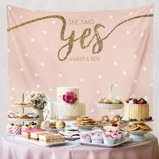 bridal shower decor she said yes bridal shower decorations engagement decor