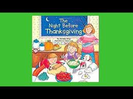 the before thanksgiving read aloud