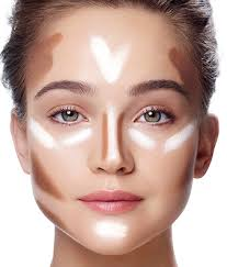 elongate a square face with v shaped hightlights under the eyes learn more on the glossy how to contour