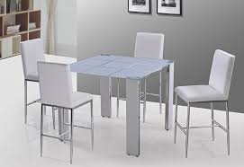 Stunning White Bar Table And Chairs Decorate Bar Height Dining - Bar height dining table white