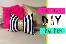 let u0027s get crafty adorable bow accent pillow diy youtube