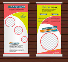 free printable vertical banner template roll up banner template free vector download 20 733 free vector