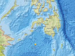 Earthquake Map Usgs Huge 7 3 Earthquake Strikes The Philippines The Independent