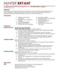 hr resume templates human resources cv exles cv templates livecareer