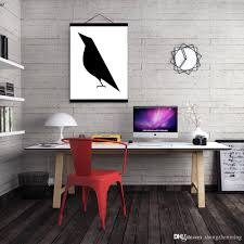 Modern Wall Art 2017 Mild Art Bird Black White Modern Abstract A4 Poster Print