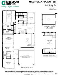 magnolia plan plan at greatwood lake in cypress texas by chesmar
