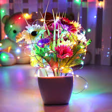 battery operated glowing starry copper lights 100 led multi color