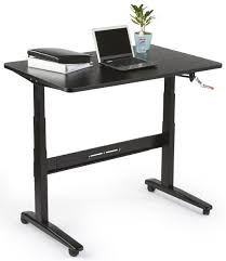 Manual Adjustable Height Desk by Manual Sit Stand Desk 48 U201d X 30 U201d Tabletop