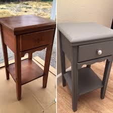 before and after chalk paint and antique wax coffee table was