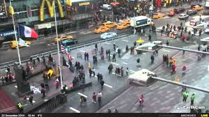 one hour times square timelapse earthcam