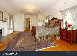 master bedroom fireplace beautiful antique furniture stock photo