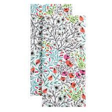 envogue flowerbed kitchen towels set 2 save 28