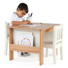 tot tutors table chair set tot tutors journey wood table and 2 chairs set with book storage