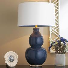 Gourd Table Lamp Blue Gourd Table Lamp And Safavieh Mid Century Double Glass In