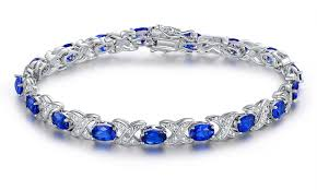 bracelet diamond sapphire images 80 off on genuine diamond and lab created groupon goods jpg