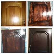 furniture repainted oak kitchen cabinets using java gel stain to