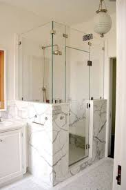 lovable half glass shower wall irresistible shower doors glass