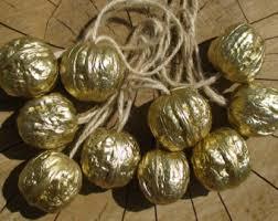 ornaments gold decor gold walnut ornaments golden