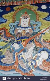 wall mural painting in the buddhist monastery and fortress at stock photo wall mural painting in the buddhist monastery and fortress at punakha dzong bhutan