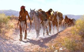chiricahua apache u0027s on the dusty trail painting by gannline art relics