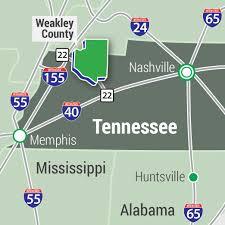 Memphis Tennessee Map by Regional Overview Weakley County Economic Development Board