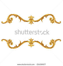 3d set ancient gold ornament on stock illustration 254289577