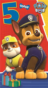 paw patrol happy birthday age 5 5th card lil boy happy and he is