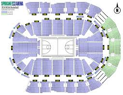 Zip Code Map Spokane by Spokane Arena Seating Map My Blog