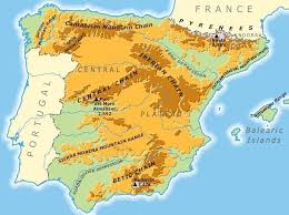 physical map of spain nature of the cantabrian mountains spain geographic