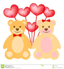 s day teddy bears s day teddy with balloons stock photography