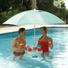 have an outdoor pool try installing an umbrella in the water for
